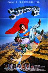 Superman III movie poster [Christopher Reeve, Richard Pryor] 27x41