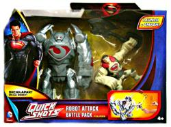 Man of Steel Quick Shots: Robot Attack Battle Pack & Superman figure
