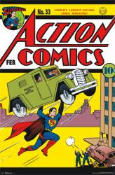 Superman poster: Action Comics issue 33 cover (22 X 34) New