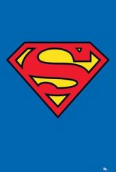 Superman poster: Logo/Shield (24'' X 36'') DC Comics