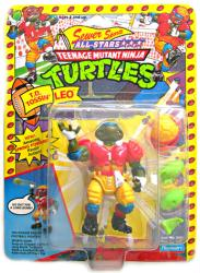 Teenage Mutant Ninja Turtles: T.D. Tossin' Leo figure (Playmates/1991)