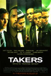 Takers movie poster [Paul Walker, Idris Elba] original 27x40