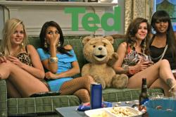 Ted movie poster: Ted with Girls [a Seth MacFarlane film] 36'' X 24''