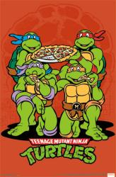 Teenage Mutant Ninja Turtles poster: Pizza (22x34) TMNT