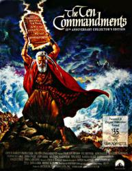 The Ten Commandments movie poster [Charlton Heston] 35th Anniversary