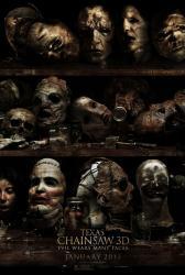 Texas Chainsaw 3D movie poster (original 27 X 40 advance) GD