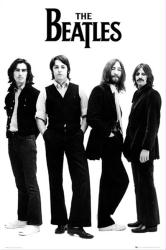 The Beatles poster: Black-and-White (24x36) George, Paul, John & Ringo