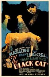 The Black Cat movie poster [Boris Karloff & Bela Lugosi] 11'' X 17''