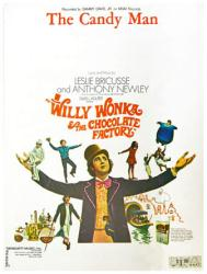 The Candy Man vintage sheet music [Gene Wilder as Willy Wonka] 1971