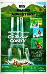 The Castaway Cowboy movie poster [James Garner] Disney original 27x41