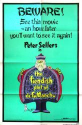 The Fiendish Plot of Dr. Fu Manchu poster [Sellers] 27x41 original