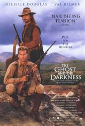 The Ghost and the Darkness movie poster [Michael Douglas & Val Kilmer]