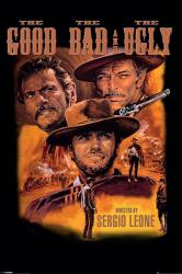 The Good, the Bad, and the Ugly movie poster [Clint Eastwood] 24x36