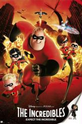 The Incredibles movie poster (24x36) Disney/Pixar animated
