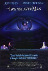 The Lawnmower Man movie poster [Jeff Fahey] 27x40 video version