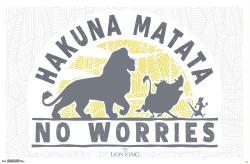 The Lion King poster: Hakuna Matata - No Worries (34x22) Disney