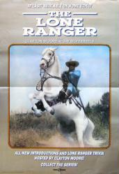 The Lone Ranger poster [Clayton Moore] 18x26 video poster 1989