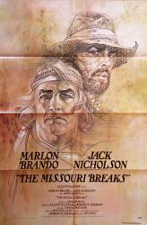 The Missouri Breaks movie poster [Marlon Brando, Jack Nicholson] 27x41