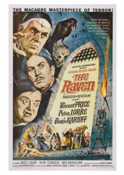 The Raven movie poster [Vincent Price/Peter Lorre/Boris Karloff] 18x24