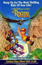 The Rescuers Down Under movie poster [Disney] video version