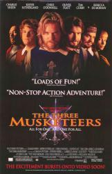 The Three Musketeers movie poster [Charlie Sheen & Keifer Sutherland]