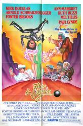 The Villain movie poster [Kirk Douglas, Arnold Schwarzenegger] 27x41