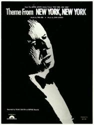 Theme From New York, New York vintage sheet music [Frank Sinatra] 1977