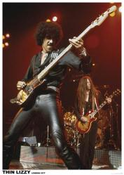 """Thin Lizzy poster: London, 1977 (23 1/2"""" X 33"""")"""