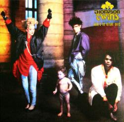 Thompson Twins poster: Here's to Future Days vintage LP/Album flat