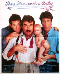 Three Men and a Baby movie poster [Selleck, Danson, Guttenberg] 18x22