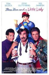 Three Men and a Little Lady movie poster (1990) original 27 X 41