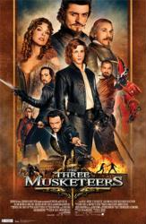 The Three Musketeers movie poster [Logan Lerman & Orlando Bloom] 2011