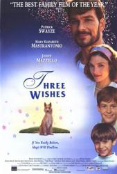 Three Wishes movie poster [Patrick Swayze/Mary Elizabeth Mastrantonio]