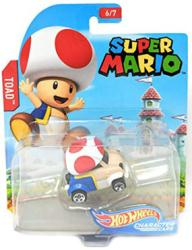 Hot Wheels Character Cars: Super Mario Toad die-cast vehicle
