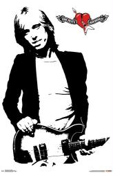 Tom Petty and the Heartbreakers poster: Damn the Torpedos B&W (22x34)