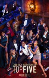 Top Five movie poster [Chris Rock, Rosario Dawson] 27x40 original