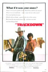 Trackdown movie poster [James Mitchum, Erik Estrada] 27x41 original