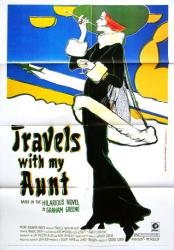 Travels with My Aunt movie poster [Maggie Smith] original 27x41