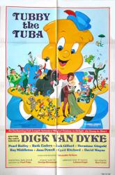 Tubby the Tuba movie poster [1975 animated film] original 27x41
