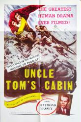 Uncle Tom's Cabin movie poster (1958 reissue of 1927 film) 27x41