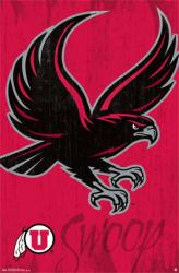 University of Utah Utes poster: Swoop Logo (NCAA) 22x34