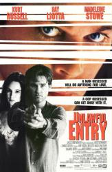 Unlawful Entry movie poster [Kurt Russell/Ray Liotta/Madeleine Stowe]