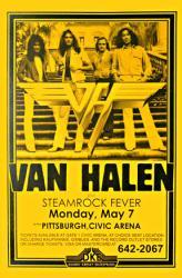 Van Halen poster: 11'' X 17'' 1979 concert handbill-style