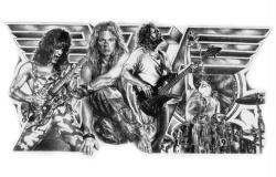 Van Halen poster/print (22 1/2'' X 17 1/2'') Mike Duran art