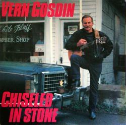 Vern Gosdin poster: Chiseled In Stone vintage LP/album flat