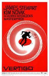 Vertigo movie poster [an Alfred Hitchcock film] 11'' X 17''