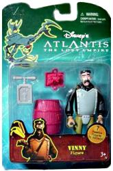 Atlantis: The Lost Empire [Disney] 4'' Vinny Santorini figure (Mattel)