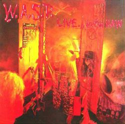 W.A.S.P. poster: Live...In the Raw vintage LP/Album flat (WASP)