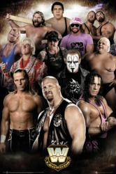 WWE Legends poster (24x36) Steve Austin, Andre the Giant, Sting, etc