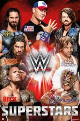 WWE Superstars poster (24x36) John Cena, Seth Rollins, The Rock, etc.